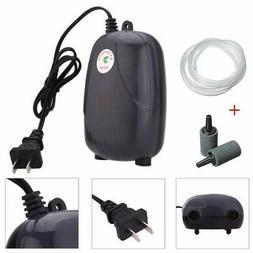 71GPH 5W Aquarium Fish Tank Air Pump 2 Air Bubble Oxygen Pum