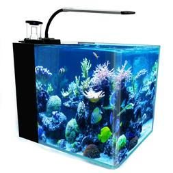8-Gallon Saltwater Aquarium Marine Fish Tank Reef Tank, Prot