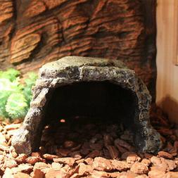9F39 Practical Resin Spider Hide Rest Cave Reptile Hiding Sp