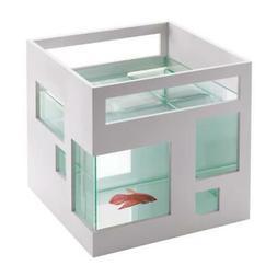 Umbra Accessories Fishhotel, Aquarium, Glass Bowl Glass Aqua