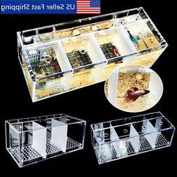 Acrylic Aquarium Baby Betta Hang Fish Tank Guppy Breeding Re