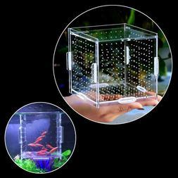 Acrylic Fish Breeding Net Boxes Isolation Hanging Aquarium B