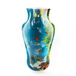 Acrylic Vase Shaped Wall Mounted Hanging Fishbowl Plant Pot