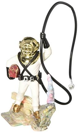 Penn Plax Aerating Action Ornament, Diver with Hose – Colo