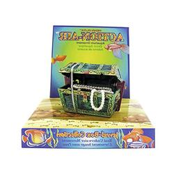 Penn Plax Aerating Action Ornament, Treasure Chest - Opens a