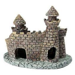 Antique Mini Castle Landscape Fish Hideaway Ornament Aquatic