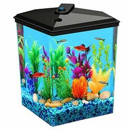AquaView 2.5-Gallon Fish Tank with LED Lighting and Power Fi