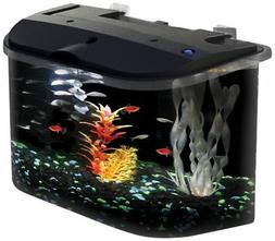 PanaView 5-Gallon Fish Tank with LED Lighting and Power Filt