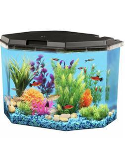 API Semi-Hex Aquarium Kit with LED Lighting and Internal Fil