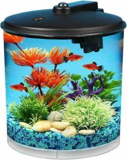 Aqua Culture 2-Gallon 360 Fish Tank Aquarium Starter Kit wit