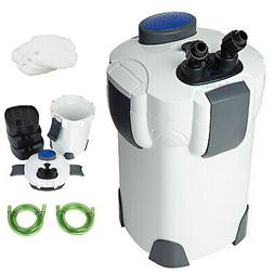 Aquarium 3-Stage External Canister Filter 265 GPH for Fresh/