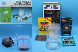 Aquarium Air Pump Filter Kit For Fish Tanks Up To 10 Gallons