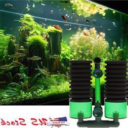Aquarium Biochemical Sponge Filter Fish Tank Air Pump + Suct