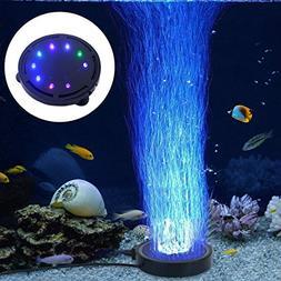LONDAFISH Aquarium Bubble Light Aquarium Air Stone LED Light