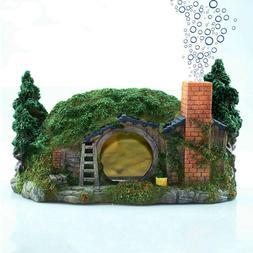 Aquarium Bubbler Decorations Fish Tank Hideout Castle for Fi