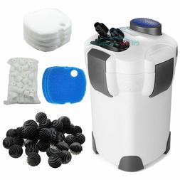 Aquarium Canister Filter 3-Stage 265 GPH FREE MEDIA Up to 75