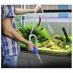 Aquarium Clean Vacuum Water Change Siphon Gravel Cleaner Fis