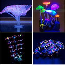 YUXIER Aquarium Decor Glowing Mushroom Glowing Coral Ornamen