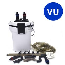 Aquarium External Canister Filter Fish Tank UV Light + Filte