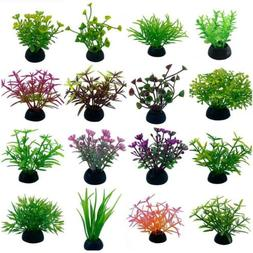 Aquarium Fish Tank Artificial Plants Decor Plastic Water Gra