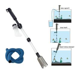 Aquarium Gravel Cleaner Siphon Vacuum Battery Powered Water