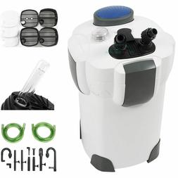 Aquarium Fish Tank Canister Filter + 9W UV Sterilizer 370 GP