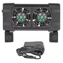 Aquarium Fish Tank Cooling System Fan Chiller + AC Adapter