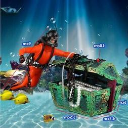 Aquarium Fish Tank Decro Air Action Scuba Frogman Diver Open