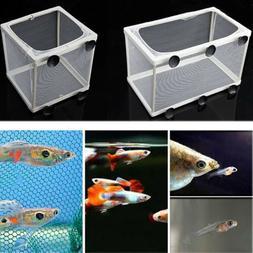 Aquarium Fish Tank Guppy Breeding Breeder Baby Fry Net Trap
