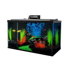 Glofish 10 Gallon Aquarium Fish Tank Kits, Includes LED Ligh
