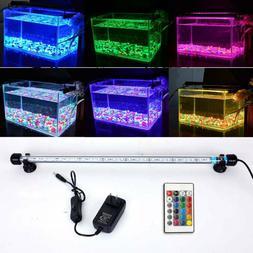 Aquarium Fish Tank LED Submersible Light RGB White Blue Ligh