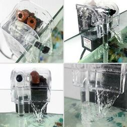 Aquarium Fish Tank Mini Waterfall-Hang On External Oxygen Pu