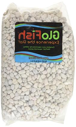 GloFish Aquarium Environment Gravel, White Frost, 5-Pound Ba