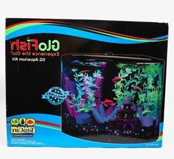 GloFish Aquarium Kit 5 Gallon Fish Tank with Tetra Filter Br