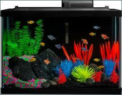 GloFish Aquarium Kit Fish Tank with LED Lighting and Filtrat
