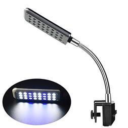 ECtENX LED Aquarium Light, Fish Tank Light, 24 LEDs, Clip on