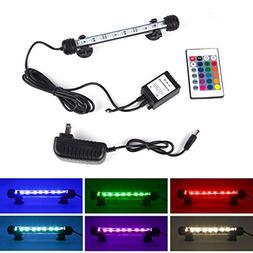 Smiful LED Aquarium Light, Fish Tank 16 Color 4 Modes RGB Li