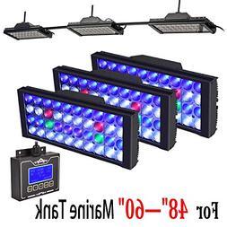 DSunY 3X LED Aquarium Light 360W Saltwater Lamp for Coral Re