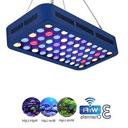 TOPLANET Led Aquarium Light WiFi/Dimmable 165W Light Full Sp