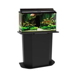 AQUARIUM STAND 20/29-Gallon Pet Fish Tank Black Solid Wood w