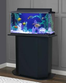 AQUARIUM STAND 20/29-Gallon Black Solid Wood Storage Fish Ta