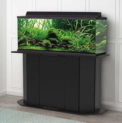 AQUARIUM STAND 55-Gallon Black Solid Wood Storage Fish Tank