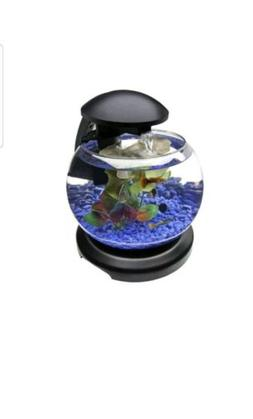 Aquarium Starter Kit Betta Fish Tank Bowl Goldfish Waterfall