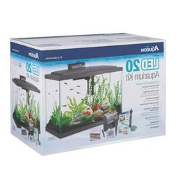 Aqueon LED Aquarium Starter Kit Column Black 15 Gallon