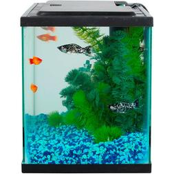 Aqua Culture Aquarium Starter Kit, 5 Gallon Led Lighting Tan