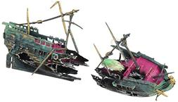Aquarium Sunken Ship Wreck Fishing Boat Ornament Decoration