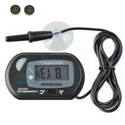 AQUANEAT Aquarium Thermometer Digital Fish Tank Terrarium Wa