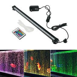 Aquarium Underwater Air Bubble LED Light Fish Tank RGB Subme