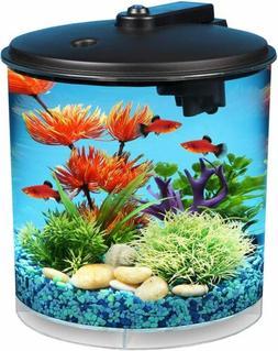 Koller Products AquaView 2 Gallon 360 Fish Nano Tank, Power