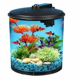 AquaView 2-Gallon 360 Fish Tank with Power Filter and LED Li